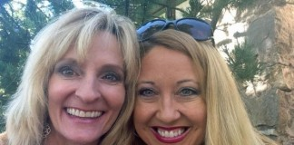 The author and her friend, Melanie i