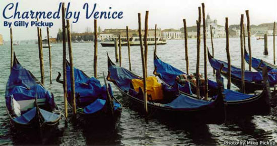 In Venice, gondolas are a popular way to get around.
