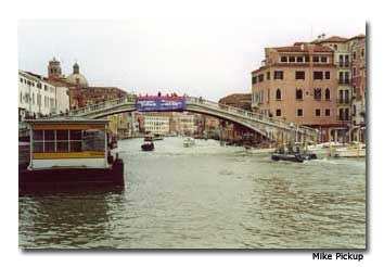 Venice is full of intricate bridges.