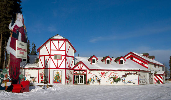 Santa Clause House and Santa Clause in North Pole, Alaska. Photo by Santa Clause House
