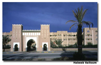 Hotel El Ati in Morocco's tourist-desert city of Erfoud.