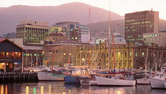 Hobart is Tasmania's capital city. Photo by Australia Tourism