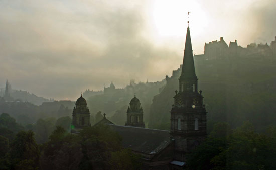 Edinburgh in the early morning. Photo by Gilly Pickup