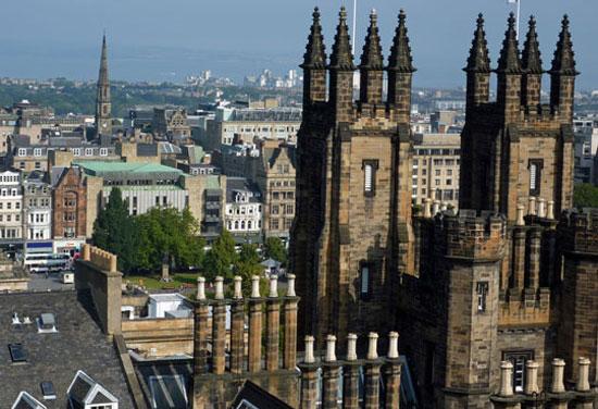 A view of Edinburgh, Scotland. Photo by Gilly Pickup