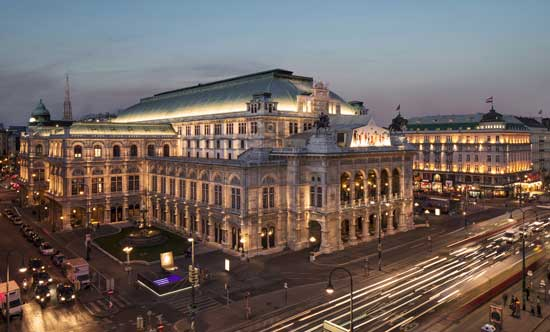 The Vienna Opera House is located in the heart of the city's First District. Photo by Vienna Tourist Board