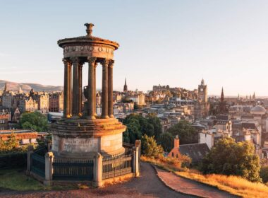Overlooking Edinburgh in Scotland