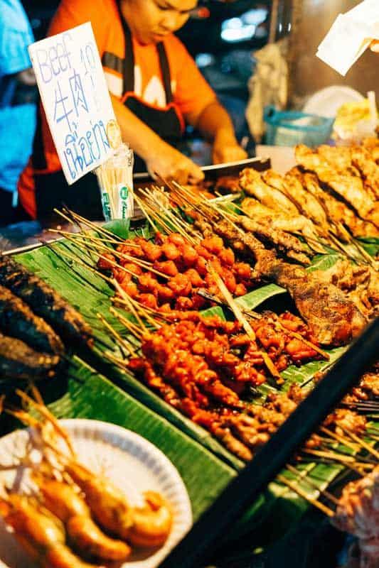 Tasty food at the night market