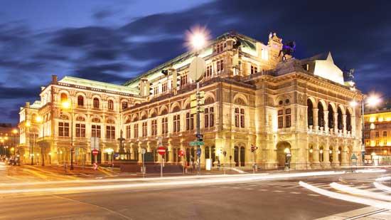 Vienna Opera House at night