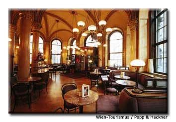 Vienna is famous for its coffeehouse culture. Pictured here is Café Central, one of the author's favorite haunts.