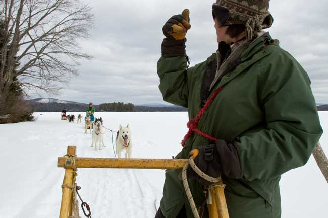 Dog sledding in Maine. Photo by Kate Sfeir