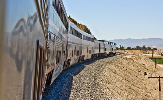 The Coast Starlight at Salinas, CA