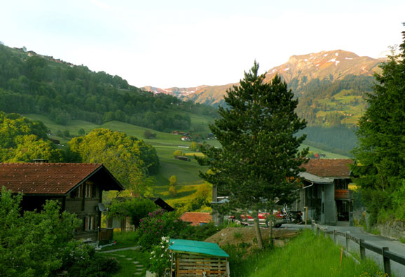 A lovely alpine village in Switzerland's Praettigau Valley