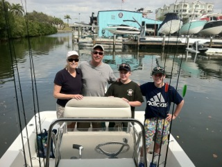 Our family sets out on a fishing adventure in Siesta Key, Florida.