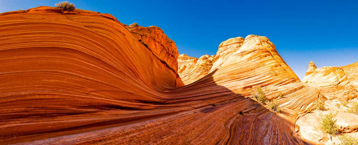Explore the Wave rock formation in Utah and Arizona