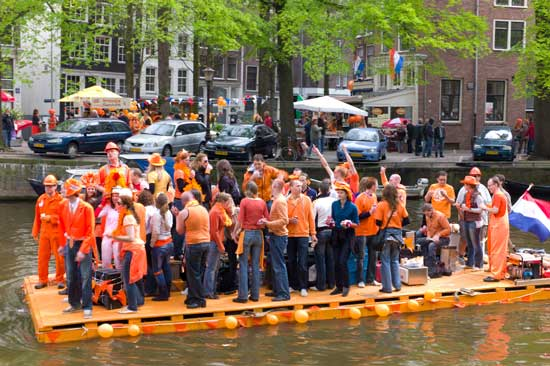 Queen's Day is the biggest national holiday in the Netherlands. Photo courtesy of Holland.com