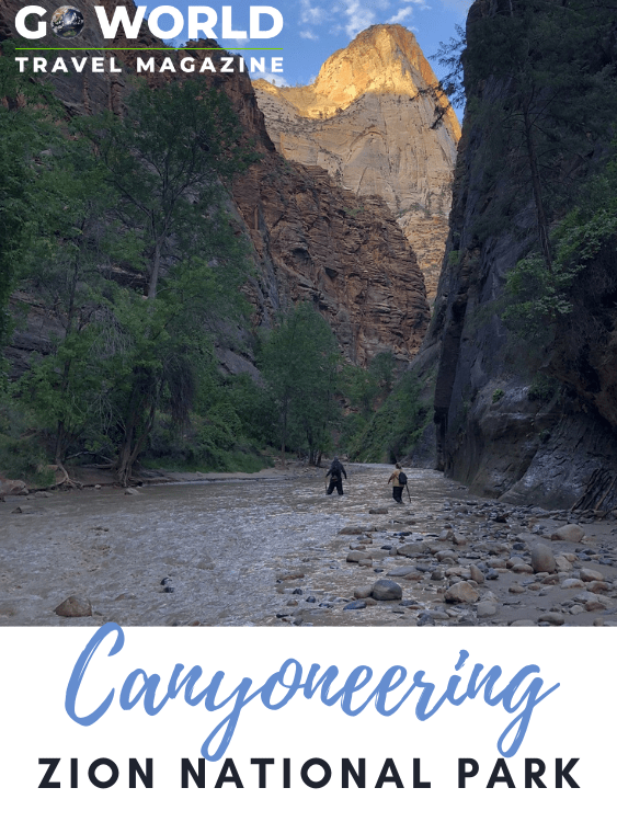 Ready for an adrenalin-rush adventure? Canyoneering in Zion National Park. #canyoneeringinzionnationalpark #canyoneeringinzion #zionnp #canyoneering #adventuretravel #zionnationalpark #goworldtravel
