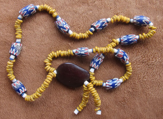 Chevron beads in Africa. Photo by James Michael Dorsey