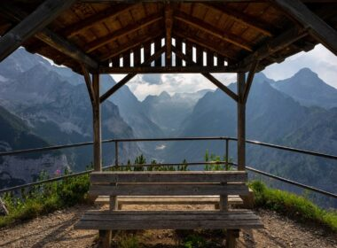 Mountain lookout in Garmisch-Partenkirchen in Germany