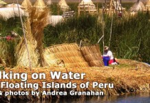 Floating islands of Peru