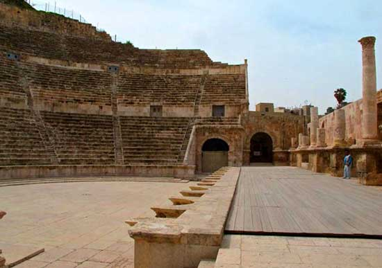 Amman's Roman Theatre, still used for the occasional performance.