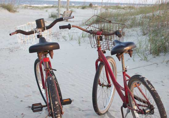 Bike rentals are a popular way to get around Tybee Island. Photo by Tybee Island Tourism Council
