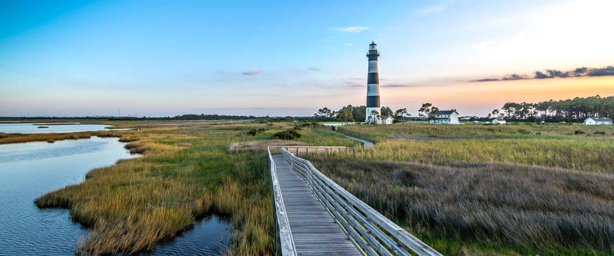 Lighthouse and beach Outer Banks, North Carolina