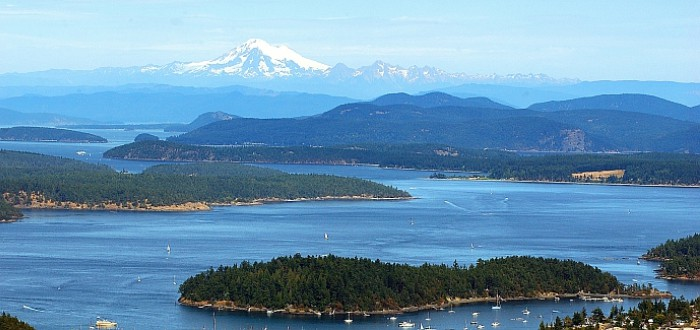 There are 172 named islands in the San Juan archipelago, between Canada and Washington state. Photo: San Juan Islands Visitors Bureau / Robert Demar