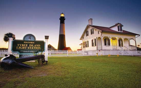 The Tybee lighthouse is a popular local icon. Photo by Tybee Island Tourism Council