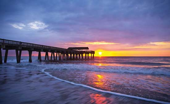 The sun set in Tybee Island, Georgia. Photo by Tybee Island Tourism Council