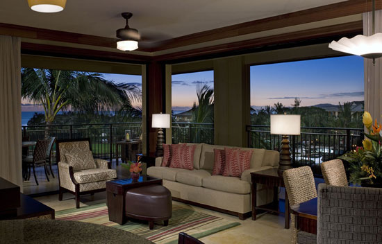 Staying at a vacation villa, such as this one at Koloa Landing Wyndham Grand Resort, offer a place for the family to relax together.