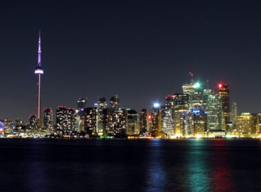 The Toronto skyline at night. Photo by Tourism Toronto