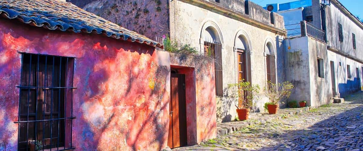 Beautiful streets of Colonia Del Sacaramento in Uruguay
