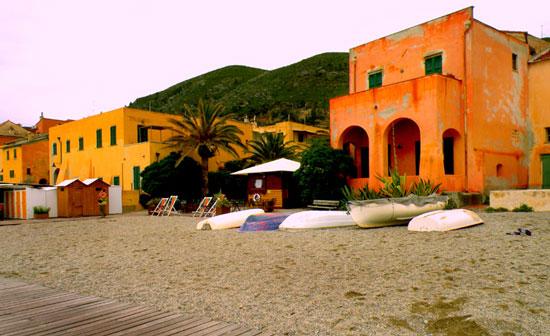 Moorish architecture in Finale Ligure. Photo by Annie Palovcik