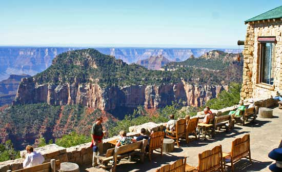 Enjoying the sun at the North Rim of the Grand Canyon. Photo by Rick DuVal