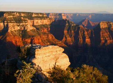 The sun sets on the North Rim of the Grand Canyon. Photo by Rick DuVal