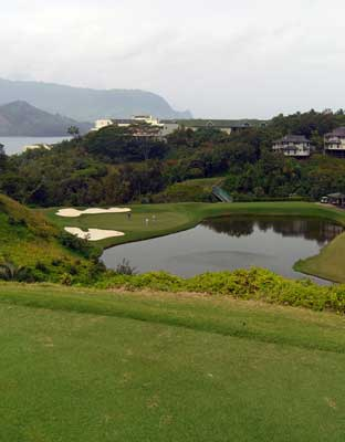 A beautiful view of the Napali Mountains from Makai Golf Club. Photo by: Lois Friedland