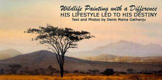 Wildlife painter in Kenya