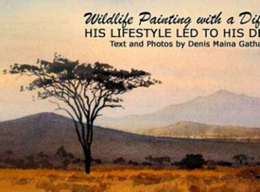Wildlife painter in Kenya
