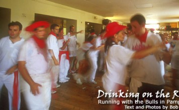 Running with the bulls in Pamplona Spain