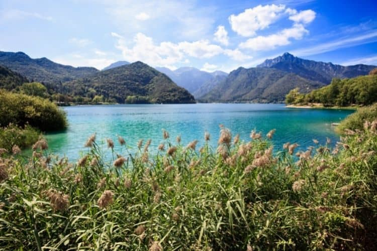 Beautiful alpine lakes are abundant in Trentino, Italy