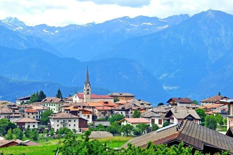 Trentino, Italy is full of charming towns with stunning backdrops
