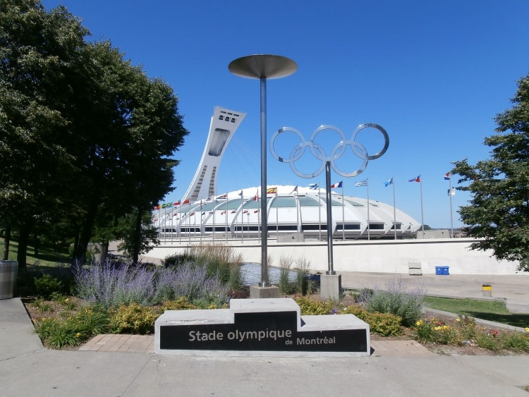 Guided tours are available at Montreal's Olympic Stadium.