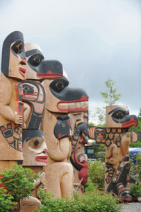 Ketchikan is rich in history and culture, and has an abundance of hand-carved totem poles.