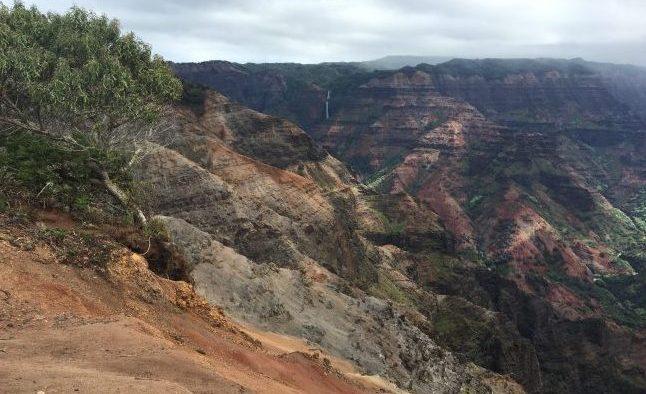 Hiking in Waimea Canyon. Photo by Janna Graber