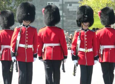 Changing of the guards at La Citadelle de Québec. Photo by Janna Graber