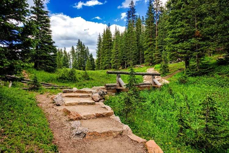 Take to the hiking trails, something for all levels, in Rocky Mountain National Park.