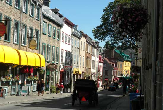 Québec City treasures its French roots and has a European feel. Photo by Janna Graber