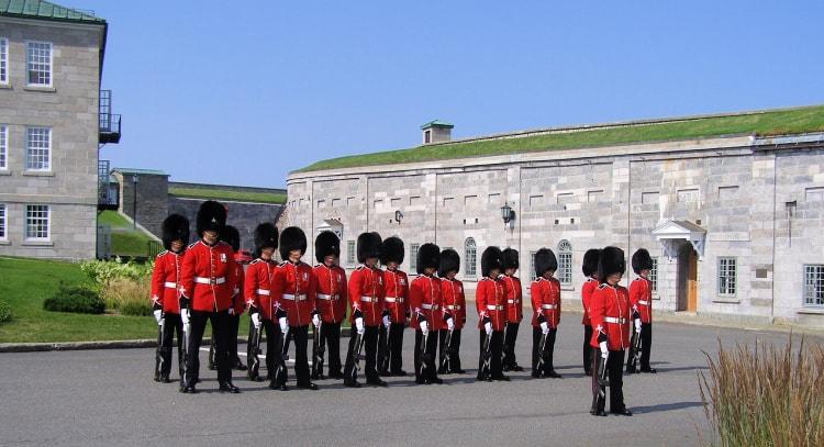 Changing of the guards at La Citadelle de Québec.