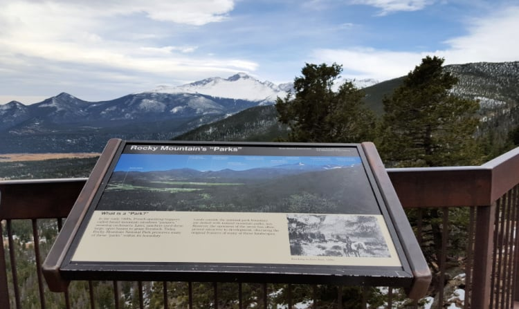 The west entrance to Rocky Mountain National Park is through Estes Park with views of Never Summer Range. Photo: Diana R