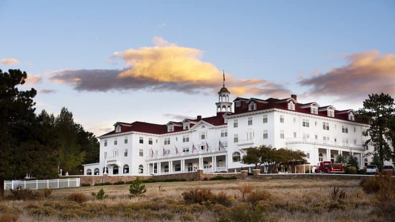 The Stanley Hotel in Estes Park, Colorado, beautiful by day, but ghosts haunt its halls at night. Photo: The Stanley Hotel